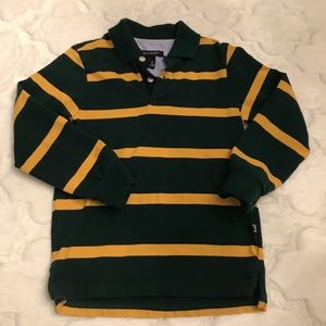 E-Land long sleeve polo size 4(T) green and yellow